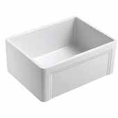 Empire Olde London 27'' Wide Farmhouse Fireclay Single Bowl Kitchen Sink with Grid and Strainer, 27'' W x 18'' D x 10''H