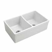 Empire Opera 33'' Reversible Farmhouse Double Bowl Kitchen Sink