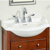 Empire Savoy 22'' Ceramic Bathroom Vanity Top with 8'' Drill in Biscuit, Available in Multiple Options
