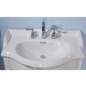 Empire Savoy 30'' Ceramic Bathroom Vanity Top with 8'' Drill in White, Available in Multiple Options
