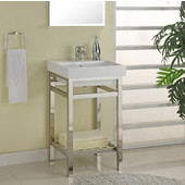 Empire South Beach 21'' Stainless Steel Console For Milano Sink, Polished