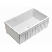 Empire Sutton Place 24'' W Reversible Fireclay Farmhouse Sink, 24'' W x 18'' D x 10'' H
