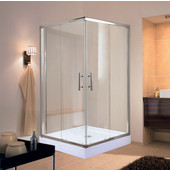 Corners Series Splash Square 6mm (1/4'') Thick Clear Tempered Glass Shower Doors Enclosure, 75'' Height