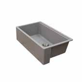 Titan 33'' W Granite Composite Farmhouse Single Bowl Kitchen Sink, Grey