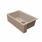 Titan 30'' W Granite Composite Farmhouse Single Bowl Kitchen Sink, Tan