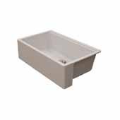 Titan 30'' W Granite Composite Farmhouse Single Bowl Kitchen Sink, Pearl White