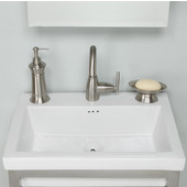 Empire Tribeca 21'' Ceramic Sink In White, 1 Hole, Available in Multiple Options