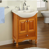 Empire Windsor 22'' Solid Wood Bathroom Vanity in Light Cherry Finish