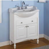 Empire Windsor 22'' Solid Wood Bathroom Vanity in White Finish