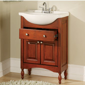 Empire Windsor 30'' Bathroom Vanity with Cognac Finish