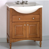 Empire Windsor 34'' Solid Wood Bathroom Vanity in Light Cherry