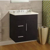 Wall-Hung Daytona 24'' Vanity for 2522 Stone Countertops with Multiple Finishes, Sink and Frame & Hardware Option