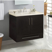 Wall-Hung Daytona 30'' Vanity for 3122 Stone Countertops with Multiple Finishes, Sink and Frame & Hardware Option