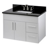 Wall-Hung Daytona 36'' Vanity for 3722 Stone Countertops with Multiple Finishes, Sink and Frame & Hardware Option