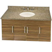 Wall-Hung Daytona 48'' Vanity for 4922 Single Bowl Stone Countertops with Multiple Finishes, Sink and Frame & Hardware Option