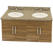 Wall-Hung Daytona 48'' Vanity for 4922 Double Bowl Stone Countertops with Multiple Finishes, Sink and Frame & Hardware Option