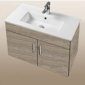 Daytona Collection 30'' Wall Hung 2-Door Bathroom Vanity in Bermuda Nights with Polished or Satin Hardware with Multiple Sink Top Options