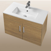 Daytona Collection 30'' Wall Hung 2-Door Bathroom Vanity in Golden Wheat with Polished or Satin Hardware with Multiple Sink Top Options