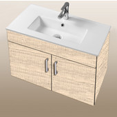 Daytona Collection 30'' Wall Hung 2-Door Bathroom Vanity in Moroccan Sand with Polished or Satin Hardware with Multiple Sink Top Options
