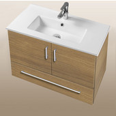 Daytona Collection 30'' Wall Hung 2-Door/1-Drawer Bathroom Vanity in Golden Wheat with Polished or Satin Hardware with Multiple Sink Top Options