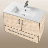 Daytona Collection 30'' Wall Hung 2-Door/1-Drawer Bathroom Vanity in Moroccan Sand with Polished or Satin Hardware with Multiple Sink Top Options