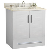 Wall-Hung Metropolitan 24'' Vanity for 2522 Stone Countertops in White Matte with Polished Hardware, 2 Doors & 1 Drawer (Wall Mounting Hardware included)