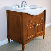 Empire Windsor 31'' Extra Deep Solid Wood Bathroom Vanity Base Only in Light Cherry, 29-1/2'' W x 19-1/4'' D x 34'' H