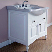 Empire Windsor 31'' Extra Deep Solid Wood Bathroom Vanity Base Only in White, 29-1/2'' W x 19-1/4'' D x 34'' H