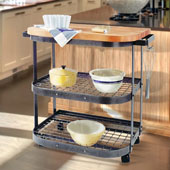 Hammered Steel Baker's Cart, Base Unit Only, 37'' W x 25'' D x 35-1/2'' H