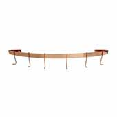 Décor Collection 30'' Curved Wall Rack Utensil Bar Pot Rack in Brushed Copper, 24'' W x 4'' D x 3'' H