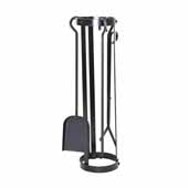 Premium Collection Indoor/Outdoor Round Tool Set in Hammered Steel, 7-1/2'' Diameter W x 7-1/2''D x 27-1/2''H