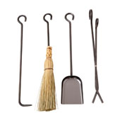 Long 4-Piece Tool Set, Hammered Steel