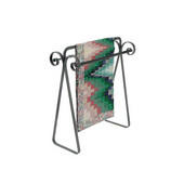 Scroll Quilt Rack in Hammered Steel