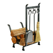 Log Rack with Tools (Country Home)