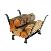 Premium Collection Indoor/Outdoor Basket Fireplace Log Rack in Hammered Steel, 20'W x 15'D x 13'H