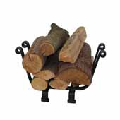 Premium Collection Indoor/Outdoor Basket Fireplace Log Rack Black, 18''W x 9-1/2''D x 11-1/2''H