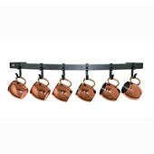 Premier Collection The Original Moscow Mule Mug Rack in Hammered Steel, 30'' W x 5'' D x 3'' H