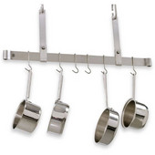 48'' Stainless Steel Adjustable Ceiling Mounted Bar Pot Rack