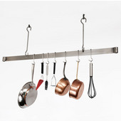48'' Stainless Steel Hook Ceiling Bar Pot Rack for Small Spaces