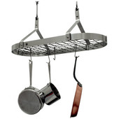 Stainless Steel Contemporary Kitchen Pot Rack with Grid