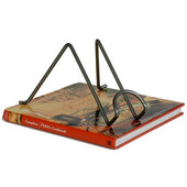 Freestanding Book Holder, Hammered Steel