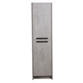 Lugano 16'' W Cement Gray Freestanding Modern Bathroom Linen Side Cabinet, 16'' W x 13'' D x 75'' H