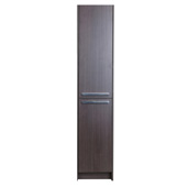 Lugano 16'' W Gray Oak Freestanding Modern Bathroom Linen Side Cabinet, 16'' W x 13'' D x 75'' H