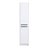 Lugano 16'' W White Freestanding Modern Bathroom Linen Side Cabinet, 16'' W x 13'' D x 75'' H