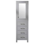 Aberdeen 18'' W Gray Freestanding Modern Linen Side Cabinet, 18'' W x 20'' D x 72'' H