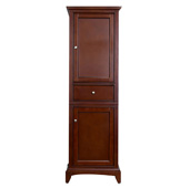 Elite Stamford 24'' W Brown Freestanding Linen Side Cabinet, 23-1/4'' W x 18'' D x 76'' H