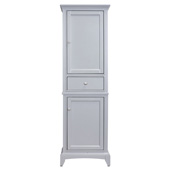 Elite Stamford 24'' W Gray Freestanding Linen Side Cabinet, 23-1/4'' W x 18'' D x 76'' H