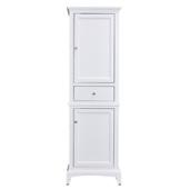 Elite Stamford 24'' W White Freestanding Linen Side Cabinet, 23-1/4'' W x 18'' D x 76'' H