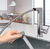 Ascend Pull Out Kitchen Faucet in Brushed Nickel, Faucet Height: 11-7/16'' H, Spout Reach: 8-7/16'' D, Spout Height: 10-1/4'' H