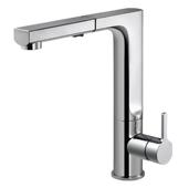 Ascend Pull Out Kitchen Faucet in Polished Chrome, Faucet Height: 11-7/16'' H, Spout Reach: 8-7/16'' D, Spout Height: 10-1/4'' H